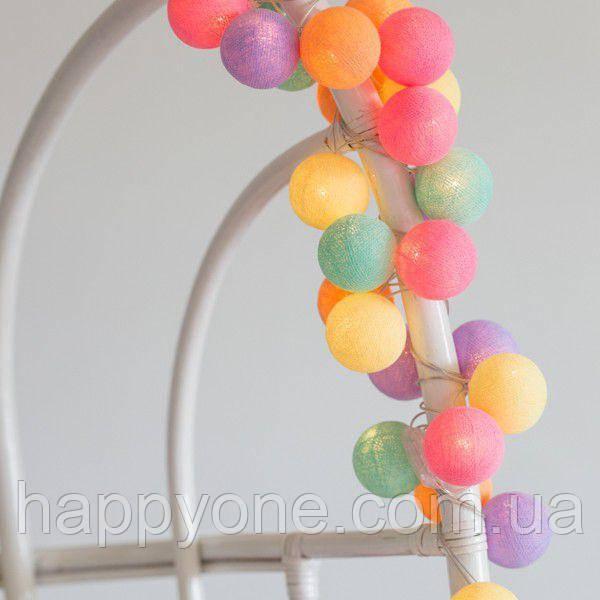 """Тайская гирлянда """"Ice Cream"""" (20 шариков) линия"""