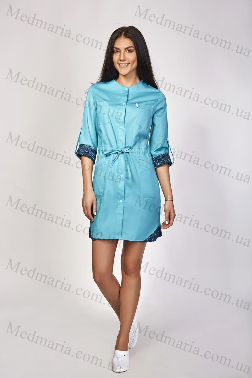 Жіночий медичний халат Ангела - Інтернет-магазин медичного одягу
