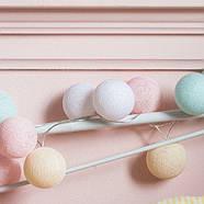"""Тайская гирлянда """"Pastel"""" (20 шариков) линия, фото 4"""