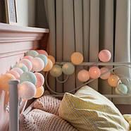 """Тайская гирлянда """"Pastel"""" (20 шариков) линия, фото 5"""