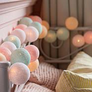 """Тайская гирлянда """"Pastel"""" (20 шариков) петля, фото 2"""