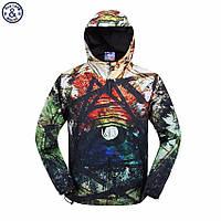 Легкая летняя мужская куртка ветровка! Разноцветная куртка с капюшоном!