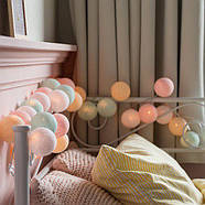 "Тайская LED-гирлянда ""Pastel"" (10 шариков) на батарейках, фото 5"