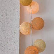 """Тайская LED-гирлянда """"Gold Mix"""" (20 шариков) на батарейках, фото 4"""