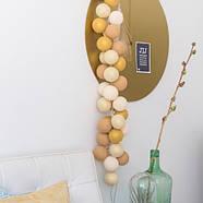 """Тайская LED-гирлянда """"Gold Mix"""" (20 шариков) на батарейках, фото 8"""