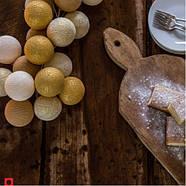 """Тайская гирлянда """"Gold Mix"""" (35 шариков) петля, фото 8"""