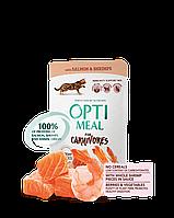 Optimeal (Оптимил) консерва для взрослых кошек С лососем и креветками в соусе 85 г