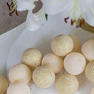"""Тайская гирлянда """"Shell-Gold"""" (20 шариков) петля, фото 4"""