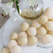 """Тайская гирлянда """"Shell-Gold"""" (20 шариков) петля, фото 2"""