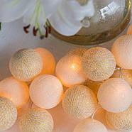 """Тайская гирлянда """"Shell-Gold"""" (20 шариков) петля, фото 5"""
