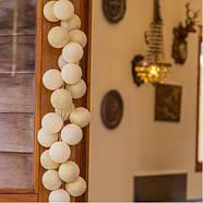 """Тайская гирлянда """"Shell-Gold"""" (20 шариков) петля, фото 6"""