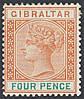 Гибралтар - Gibraltar SG#34 1898 год