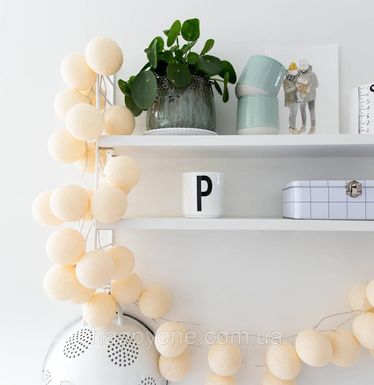 "Тайская LED-гирлянда ""Shell"" (10 шариков) на батарейках"