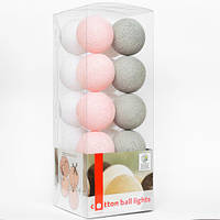 "Тайская LED-гирлянда ""Soft powder"" (20 шариков) на батарейках"