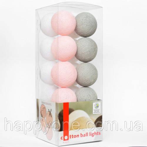 """Тайская гирлянда """"Soft powder"""" (20 шариков) петля"""