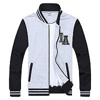 Легкая летняя мужская куртка ветровка! Черно белая куртка толстовка на молнии!, фото 1