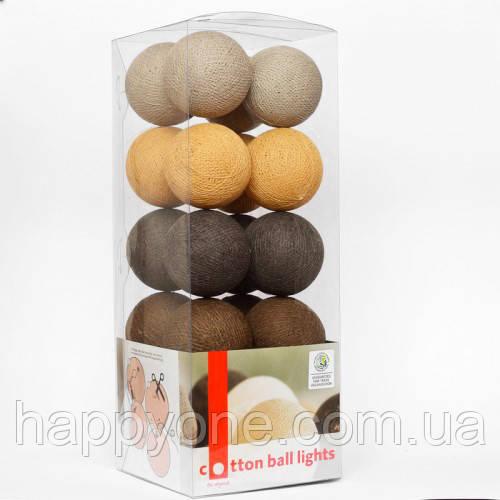 """Тайская LED-гирлянда """"Brown style"""" (35 шариков)"""