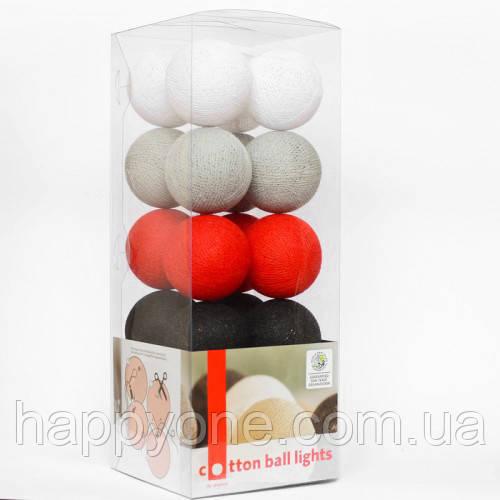 """Тайская LED-гирлянда """"Poppy"""" (20 шариков) на батарейках"""