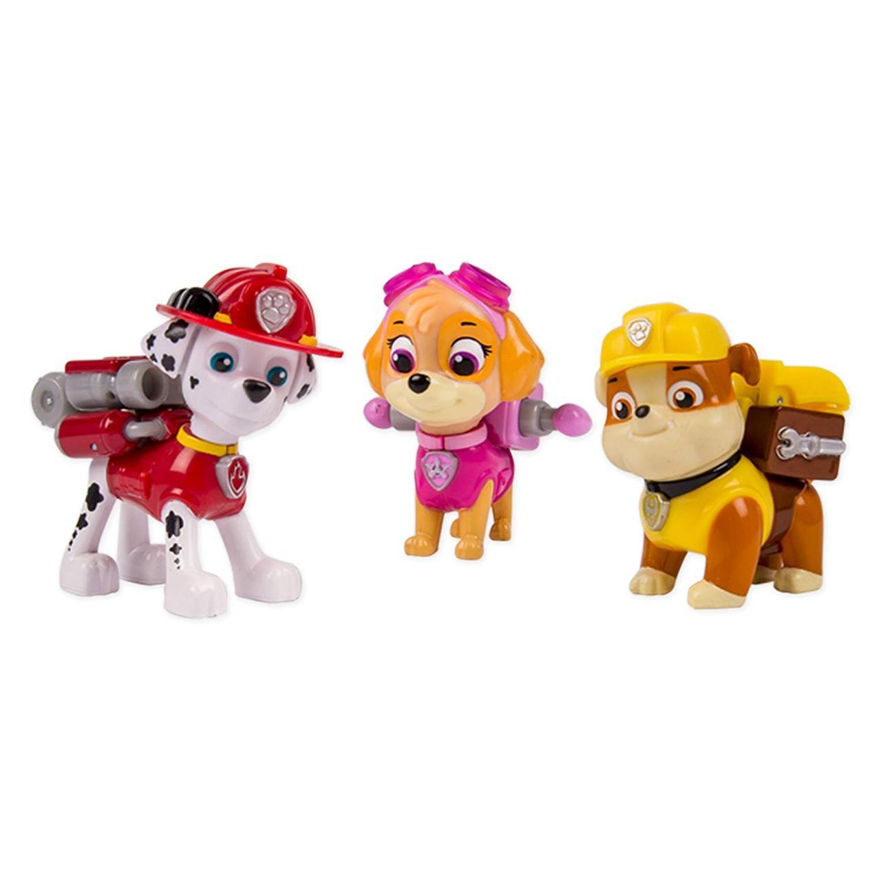 Игрушка Щенячий патруль Маршал, Скай, Крепыш Paw Patrol Action Pack Pups 3pk Figure Set Marshal, Skye, Rubble