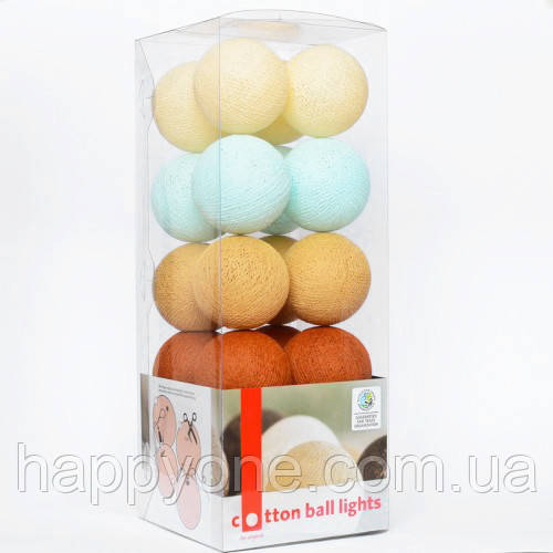 "Тайская LED-гирлянда ""Indian summer"" (10 шариков) на батарейках"
