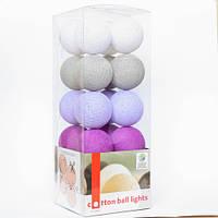 """Тайская LED-гирлянда """"Lavender style"""" (10 шариков) на батарейках"""