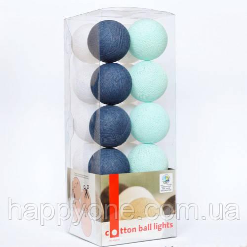 """Тайская гирлянда """"Navy blue"""" (35 шариков) петля"""