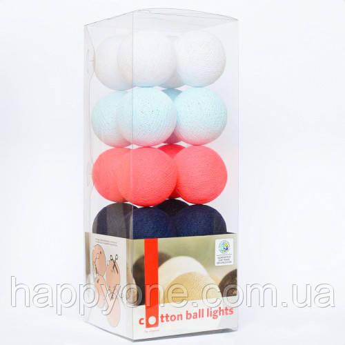 """Тайская LED-гирлянда """"Raspberry Jeans"""" (35 шариков)"""