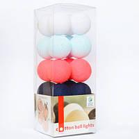 """Тайская LED-гирлянда """"Raspberry Jeans"""" (10 шариков) на батарейках"""