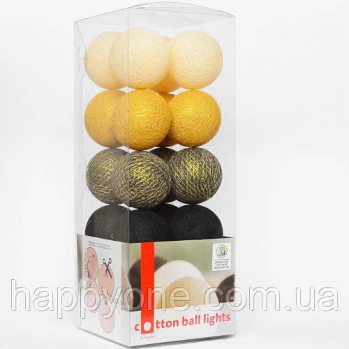 "Тайская LED-гирлянда ""Golden Coal"" (10 шариков) на батарейках"