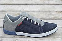 Спортивные туфли, кроссовки натуральная кожа, нубук мужские весна лето (Код: Ш517а) Только 44р!
