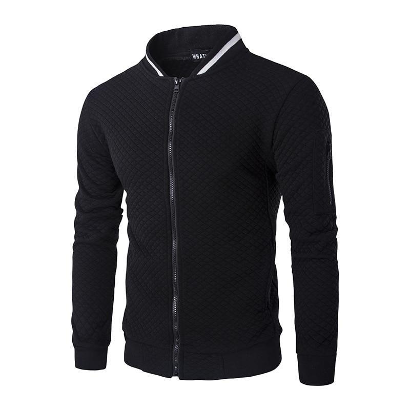 Легкая летняя мужская куртка ветровка! Черная куртка бомбер на молнии!