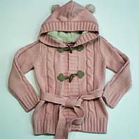 Стильная вязаная кофта для девочки 4-6 лет, фото 1