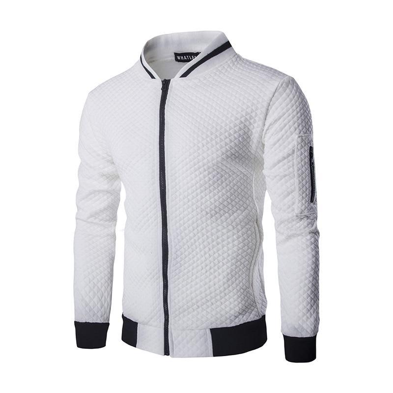 Легкая летняя мужская куртка ветровка! Белая куртка бомбер на молнии!