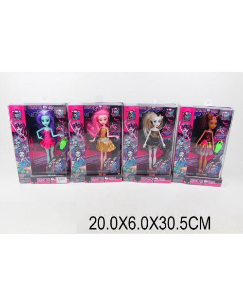 "Кукла ""Monster High"" 1001 (1591184) (72шт/4) 4 вида,с аксессуаром, в кор.20*6*30,5см"