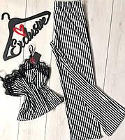Пижама в полоску женская,штаны и майка, фото 1