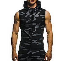 Легкая летняя мужская куртка ветровка! Черная безрукавка милитари!, фото 1