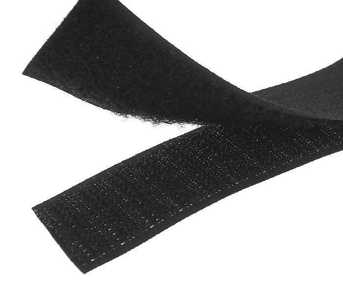 Липучка для одежды черная 20мм/1метр