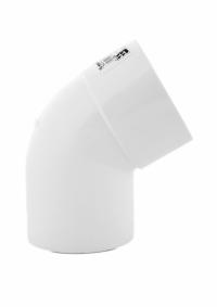 Коліно пластикової труби Profil Д=100мм, 60 градусів, колір білий