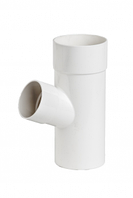 Тройник трубы Profil Д=100мм/100мм/60 градусов, цвет белый