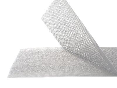 Липучка для одежды белая 25мм/1метр