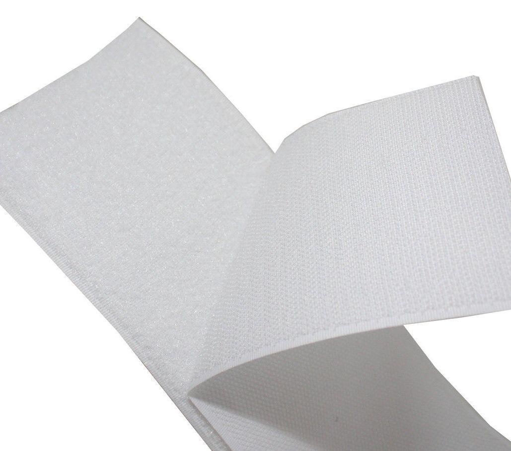 Липучка для одежды белая 50мм/1метр