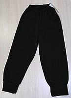 Детские начесные черные штаны