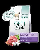 Optimeal Cухой корм для взрослых собак мелких пород c уткой 4 кг