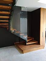 Сходи, сходи зі скляним огородження, дерев'яні сходи на замовленя Луцьк, Ковель, Любомль, фото 1