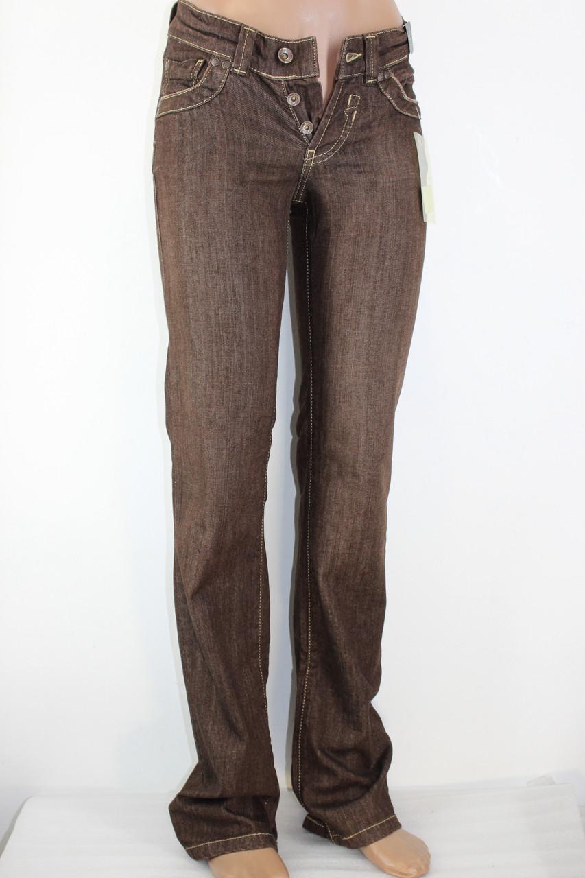 Джинсы женские DA 001 коричневые 25