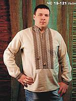 Мужская вышиванка  Сорочка чоловіча Модель:ЧС-19-121 льон