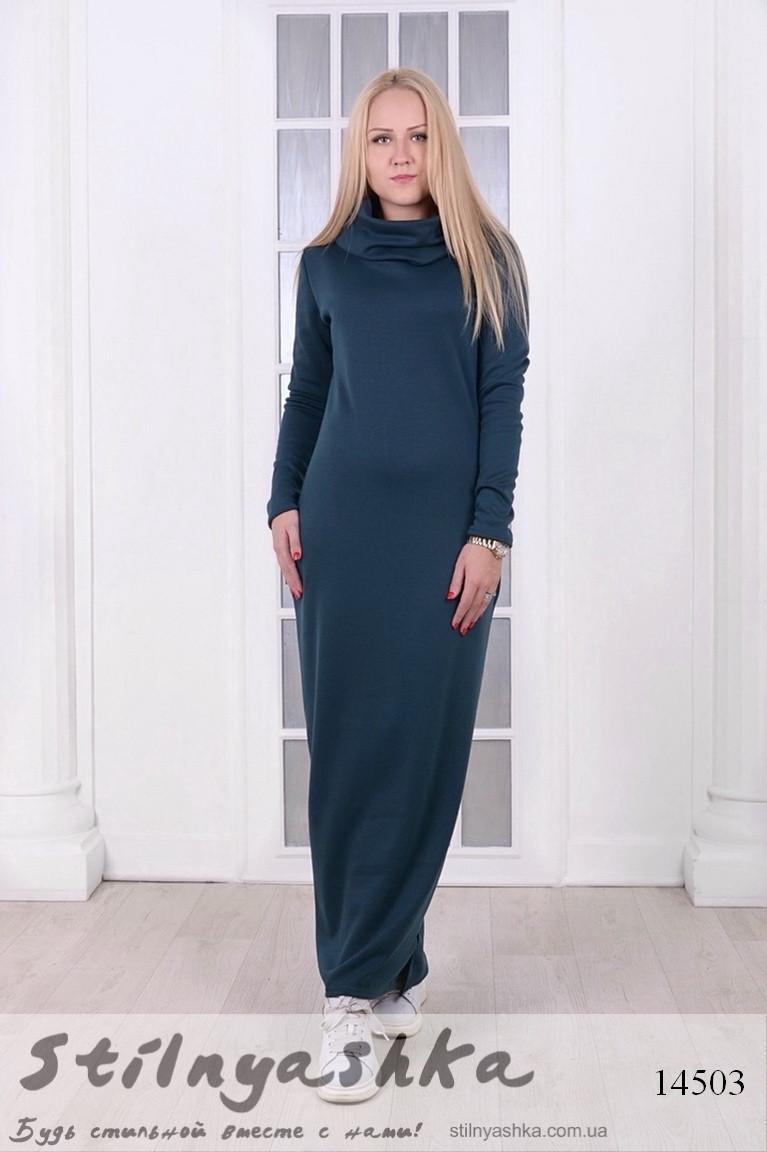 a61ccfffb58 Зимнее длинное платье на меху Капюшон бутылка - Интернет-магазин