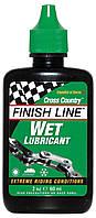 Смазка Finish Line жидкая Wet Lube (Cross Country) для влажных погодных условий, 60ml