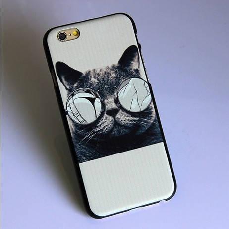 Кошка в очках чехол iphone 6 4.7