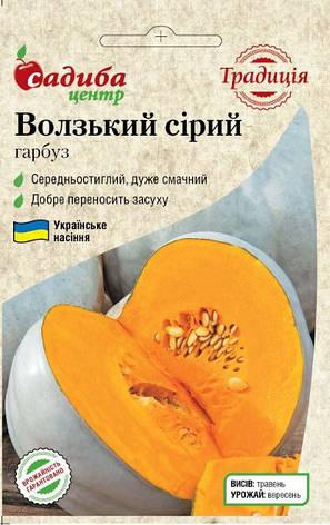 Тыква Волжская серая 3 г (Традиция), фото 2